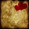 Grunge sweetheart background Royalty Free Stock Images