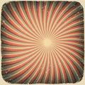 Grunge swirl rays retro background. Royalty Free Stock Image