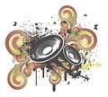 Grunge Swirl Speaker Royalty Free Stock Photo