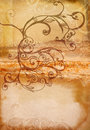 Grunge swirls book spread Royalty Free Stock Photo