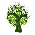 Grunge swirly tree vector illustration Royalty Free Stock Photo