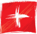 Grunge Switzerland flag Stock Photo