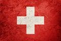 Grunge Switzerland flag. Swiss flag with grunge texture. Royalty Free Stock Photo