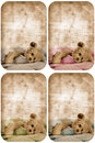 Grunge teddy bear card. Stock Photography