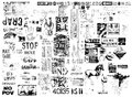 Grunge text overlays Royalty Free Stock Photo
