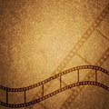 Grunge texture filmstrip brown background Royalty Free Stock Image