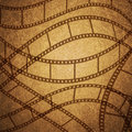 Grunge texture filmstrip brown background Royalty Free Stock Photos