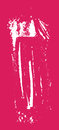 Grunge texture. White brush on pink. Vector template. Urban Background. Royalty Free Stock Photo