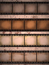 Grunge textured film strip Stock Photos