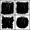 Grunge textures set Royalty Free Stock Photo