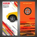 Grunge Tire Banner set
