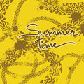 Grunge tire track background with text summer time Stock Photos