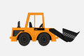 Grunge Tractor heavy bulldozer