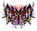 Grunge tribal colorful butterfly wings Royalty Free Stock Photo