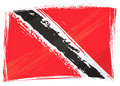 Grunge Trinidad and Tobago flag Royalty Free Stock Photography