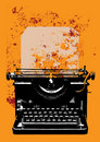 Grunge typewriter with a sheet Royalty Free Stock Image