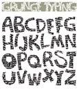 Grunge typing font