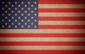 Grunge USA flag background on recycled paper texture Stock Images