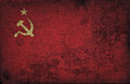 Grunge USSR flag Royalty Free Stock Photo