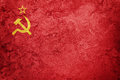 Grunge USSR flag. Soviet Union flag with grunge texture. Royalty Free Stock Photo