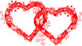 Grunge valentine frame, heart, vector Royalty Free Stock Images