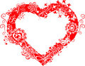 Grunge valentine frame, heart, vector Stock Photography
