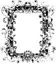 Grunge valentine frame, vector Stock Photography