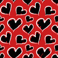 Grunge valentine hearts seamless pattern vector format added Royalty Free Stock Image