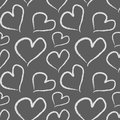 Grunge valentine hearts seamless vector pattern format added Royalty Free Stock Image