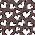 Grunge valentine hearts seamless vector pattern format added Royalty Free Stock Images