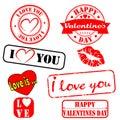 Grunge Valentine stamps.