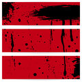 Grunge vector banners three horizontal eps illustration Stock Photography