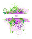 Grunge vector floral design. Royalty Free Stock Photos