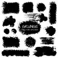 Grunge vector splashes set of for your design illustration Stock Photo