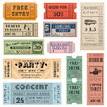 Grunge Vector Tickets Collection 2 Royalty Free Stock Photos