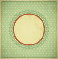 Grunge, vintage background with a circular frame Stock Photos