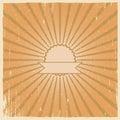 Grunge vintage background. Retro burst Royalty Free Stock Photo