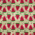 Grunge vintage pattern of sweet juicy pieces watermelon watercol Royalty Free Stock Photo