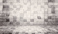 Grunge and vintage style concrete tile wall and floor texture background