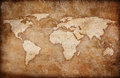 Grunge vintage world map background Stock Photo