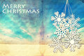 Grunge winter background with large snowflakes Royalty Free Stock Photo