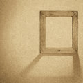 Grunge wood frame background vintage paper texture Stock Photography