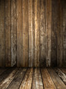 Grunge wooden room Royalty Free Stock Photo