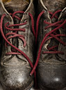 Grunge Work Boots Stock Photo
