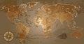 Grunge world map Royalty Free Stock Photo