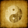 Grunge yin yang symbol. Royalty Free Stock Photos
