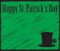 Grunged Happy Saint Patricks Day Green Card