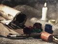 Grungy натюрморт искусства Стоковая Фотография RF