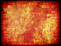 Grungy abstract background with brick frame border. Royalty Free Stock Photo