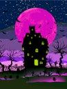 Grungy achtergrond van Halloween. EPS 8 Royalty-vrije Stock Fotografie
